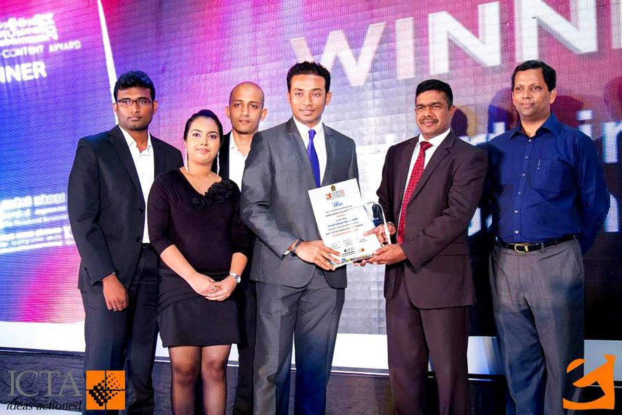 Sachi Wickramage Winner eSwabhimani Awards 2014