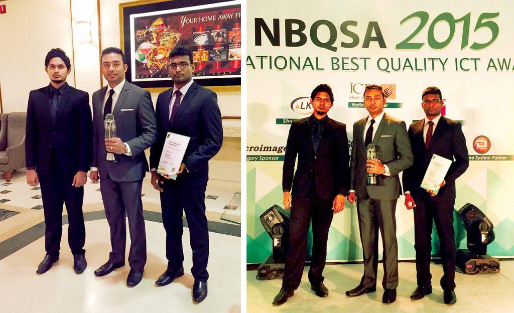 Sachi Wickramage Winner at British Computer Society NBQSA Awards 2015