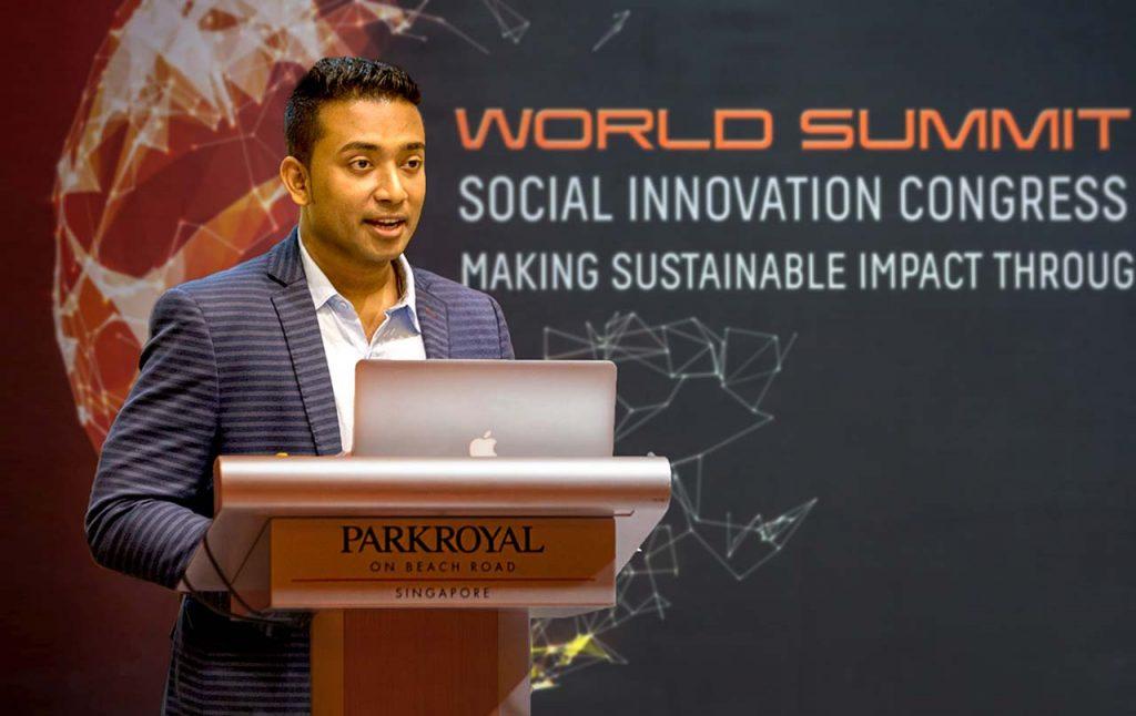 Sachi Wickramage addressing UN WSA Global Congress