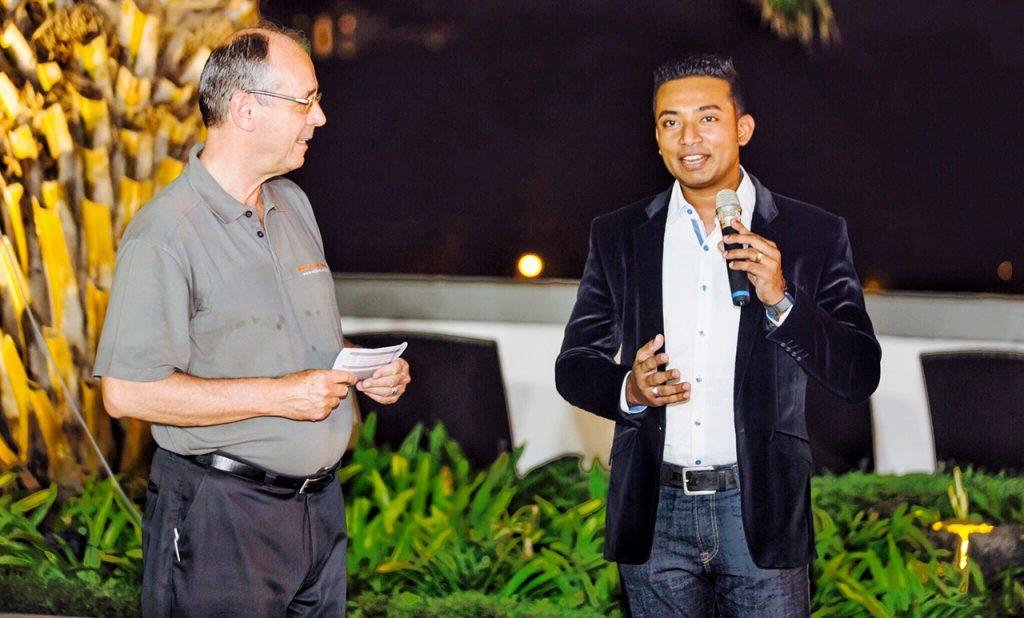 Sachi Wickramage addressing UN WSA IceBreaker