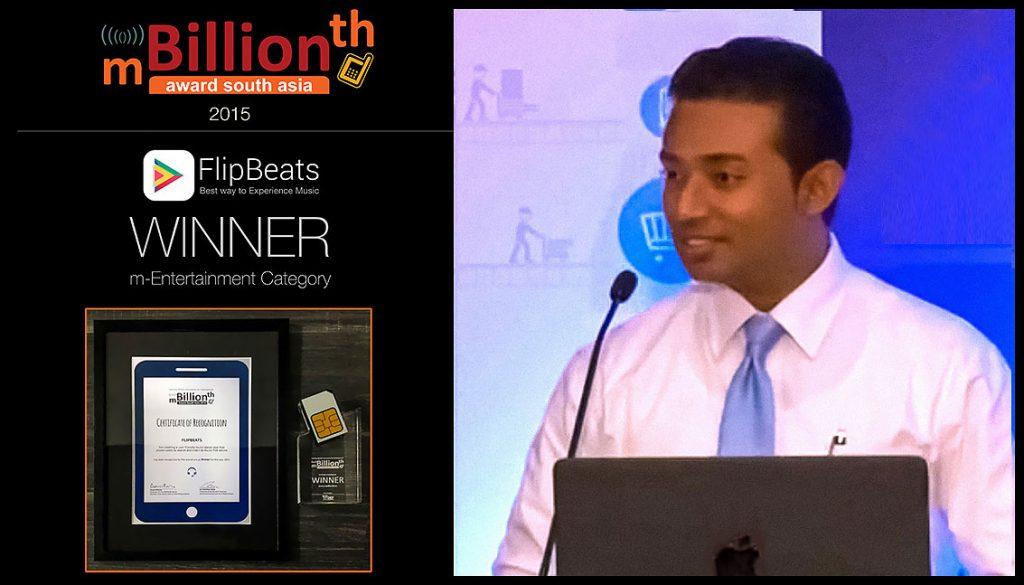 Sachi Wickramage Winner mBillionth Awards 2015