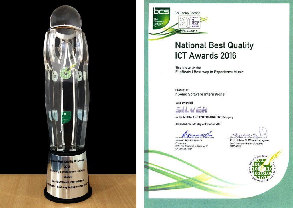 FlipBeats Winner at British Computer Society NBQSA Awards 2016